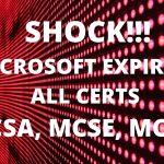 Microsoft Certifications retiring 2020 | MCSA, MCSE, MCSD